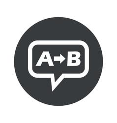 Round A B dialog icon vector