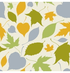 Seamless pattern with stylized silhouette leaves vector image