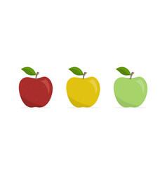Set apples appetizing fruit vector