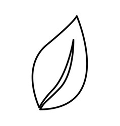 Silhouette leaf plant icon flat vector