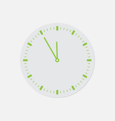 simple green icon - last minute clock vector image