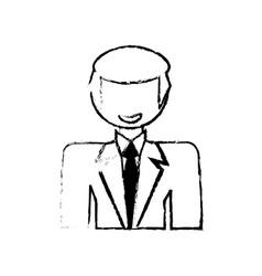 skecth man male character image vector image