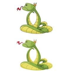 smart snake vector image