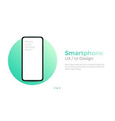Smartphone with blank screen banner vector