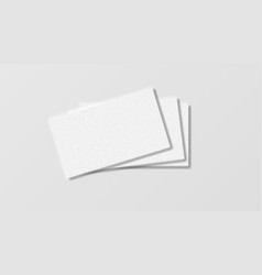 Stack realistic business cards on white vector