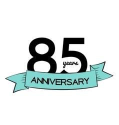 Template Logo 85 Years Anniversary vector
