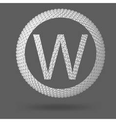 The letter W Polygonal letter Abstract Creative vector image