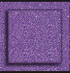 The square glass banner purple sequins background vector