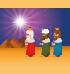 three magic kings of orient cartoons vector image