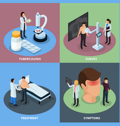 tuberculosis prevention concept icons set vector image