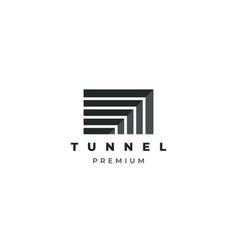 tunnel logo design template vector image