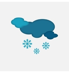 Weather icon cloudy snowing sky vector