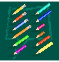 with pencils vector image