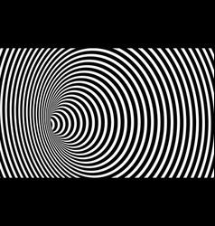 Wormhole 3d optical art illusion geometric circles vector