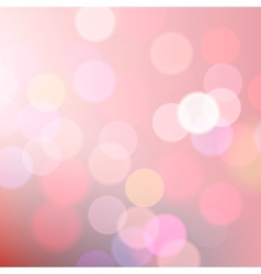 Abstract blurred pink background of holiday lights vector image vector image