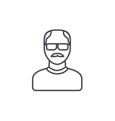 avatar father adult man thin line icon linear vector image vector image