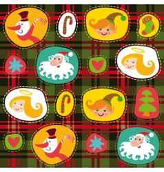 Christmas tartan plaid pattern background vector image