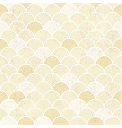 Fish Scales Pattern Seamless Vintage Background vector image