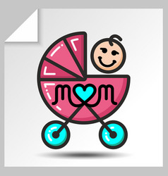Mothers day icons 3 vector