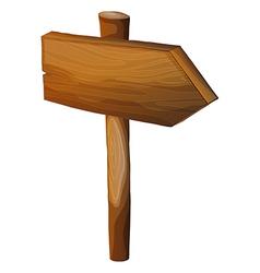 A blank wooden arrow signboard vector image
