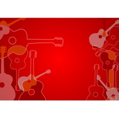 Abstract acoustic guitar background vector image