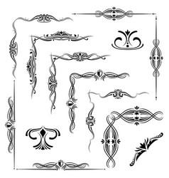 flourish decorative elements ornament borders vector image