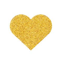gold glitter heart shape isolated golden love vector image vector image