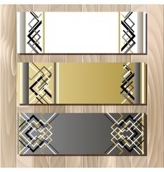 Golden black sale banner template in art deco vector image vector image