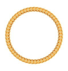 Golden chain - round frame on the white background vector image vector image
