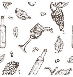 seamless pattern drawing on a white background vector image