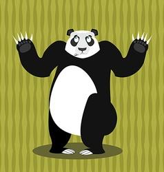 Surprised panda OOPS Perplexed Chinese bear Struck vector image