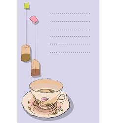 tea card vector image vector image