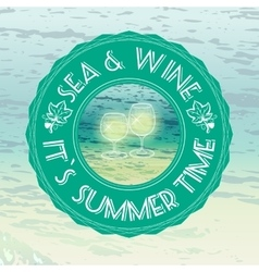 with text Summer Time vector image