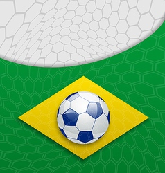 Abstract brazilian background with ball vector image vector image
