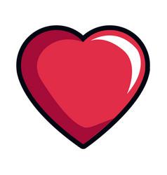 cartoon heart romantic love decoration symbol vector image vector image