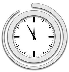 clock face icon vector image vector image
