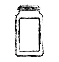 glass bottle isolated vector image vector image