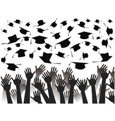 hands celebrating graduation vector image
