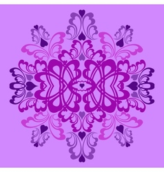 Lilac heart pattern vector image vector image