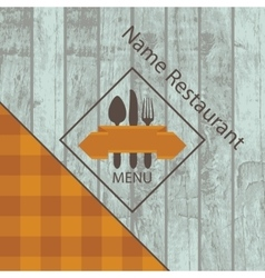 menu with the texture of wood vector image vector image