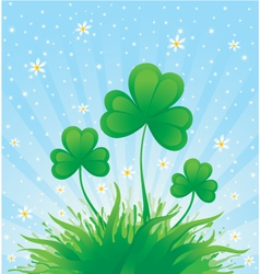patrick spring background vector image vector image