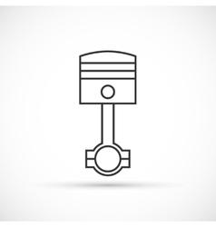 Piston engine outline icon vector image