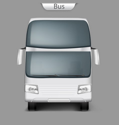 realistic coach bus mockup front view vector image