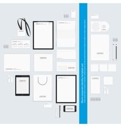 Blank corporate identity template set vector image