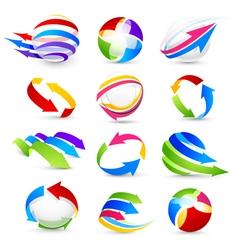 collection of colour arrows vector image