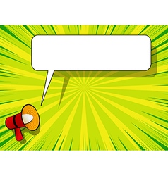 Comic book background with megaphone announcement vector image vector image