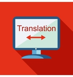Desktop translator icon flat style vector image