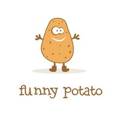 funny potato vector image vector image