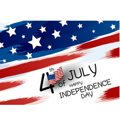 4th july happy independence day design banner vector image