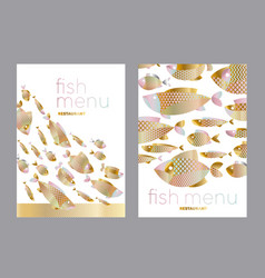 abstract assorted gold fish pattern vector image